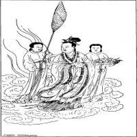 (中国宗教人物)创作素材古代版画(1)