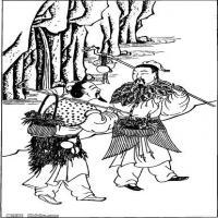 (中国宗教人物)创作素材古代版画(3)