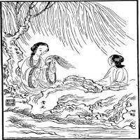 (红楼梦人物线稿)美术家创作资源-古代小说版画(1)