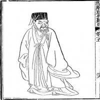 (古代圣贤官吏武将线稿)美术家创作资源-古代人物版画(5)