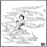 (红楼梦人物线稿)美术家创作资源-古代小说版画(2)