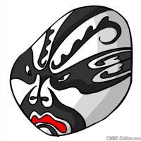 汉朝戏曲脸谱图案参考-创作素材图片库