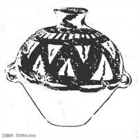 原始社会日用品-器具图案-器皿图片线描稿件资料库(1)