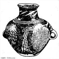 原始社会-器具图案-器皿图片线描稿件资料库(4)