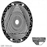 原始社会-器具图案-器皿图片线描稿件资料库(6)