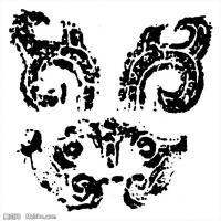 春秋圖案-拓片紋理-創作資料庫中國古代歷史檔案線描庫(6)