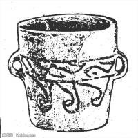 原始社会纹理-器具图案-器皿图片线描稿件资料库(14)