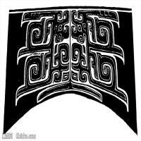 原始社会纹理-器具图案-器皿图片线描稿件资料库(13)