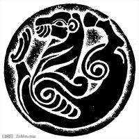 秦汉拓片线稿图案库中国古代历史档案创作资料库(5)