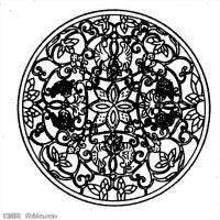 隋唐时期线描美术图案-拓片资料库美术创作档案库(1)