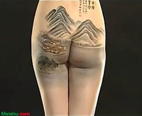 人体美女彩绘-山水篇