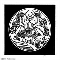 元代明代时期拓片线描图案资料库中国古代美术图库(2)
