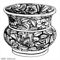 元代明代时期拓片线描图案资料库中国古代美术图片(2)
