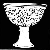 元代明代时期拓片线描图案资料库中国古代美术图库(4)