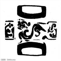元代明代时期拓片线描图案资料库中国古代美术图片(4)