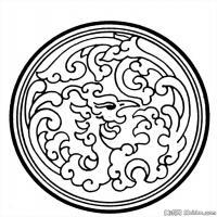 清代时期花纹富贵图案拓片资料库中国古代美术图库(2)