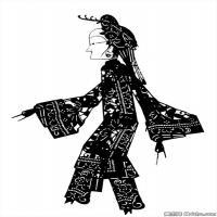 清代时期花纹富贵图案拓片资料库中国古代美术图库(4)