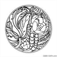 创作线描画稿吉祥图案中国美术图案库(1)
