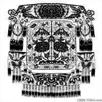 清代时期花纹富贵图案拓片资料库中国古代美术图库(6)