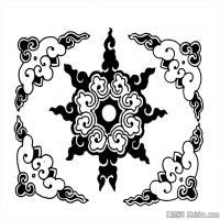清代时期花纹富贵图案拓片资料库中国古代美术图库(3)