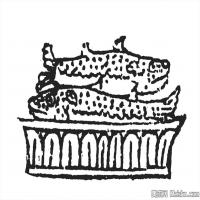 清代时期花纹富贵图案拓片资料库中国古代美术图库(5)