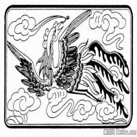 凤凰图片线描拓片库-艺术家创作库中国美术图案库