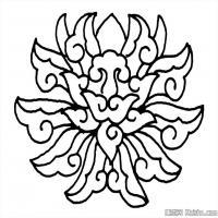创作线描画稿-吉祥图案中国美术图案库(1)