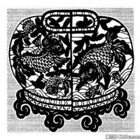 古代飞禽鸟类线描拓片库艺术家创作库中国美术图案库(5)