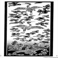 古代飞禽鸟类线描拓片库艺术家创作库中国美术图案库(6)