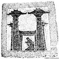 古代人物造型图片线描拓片库-艺术家创作资料