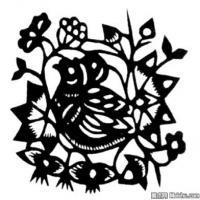 古代飞禽鸟类线描拓片库艺术家创作库中国美术图案库(1)