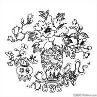 创作线描画稿-吉祥图案中国美术图案库(4)