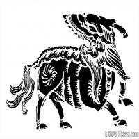 古代靈獸圖案線描拓片大全集-創作參考資料庫-美術網