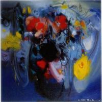 朱德群近现代抽象油画作品(5)