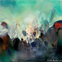 朱德群近现代抽象油画作品(1)