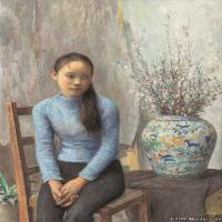 朱春林油画人物高清图片