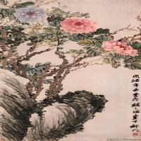 清代书画家赵之谦代国画水墨图片作品