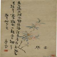 清代画家高翔绘画作品扬州八怪之一