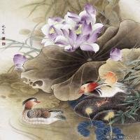 李晓明国画工笔画小花鸟植物图片(3)