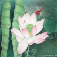 李晓明国画工笔画小花鸟植物图片(8)
