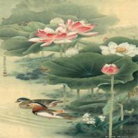 李晓明国画工笔画小花鸟植物图片(6)