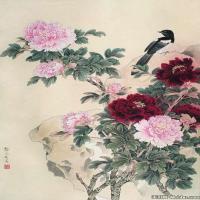 龚文祯国画画鸟植物图片