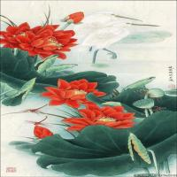李晓明国画工笔画小花鸟植物图片(7)