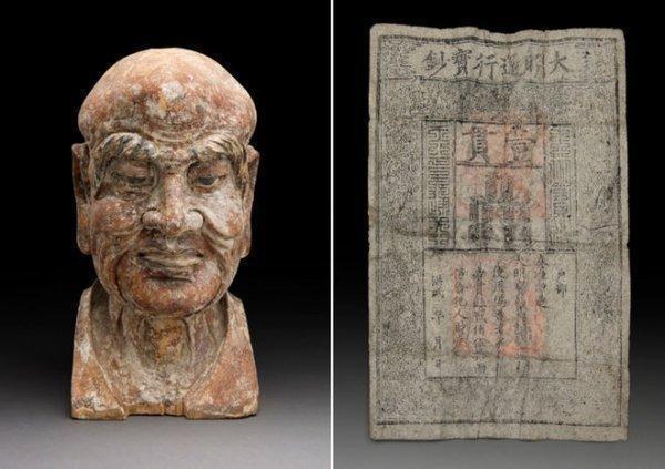 600 年前木雕里暗藏私房钱 稀有明朝银票