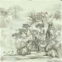 张伟平国画高清水墨图片