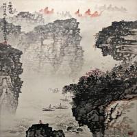 钱松岩国画水墨作品图片