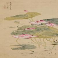 清代画家钱维城山水花鸟绘画立轴作品