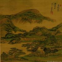 清代画家王时敏古画立轴山水风景图片