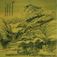 清代著名画家王翚仿古四季山水册页图片