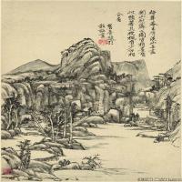 清代杰出画家王原祁山水十二开纸本册页图片